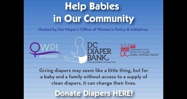 Diaper Donation Drive flyer